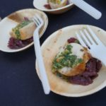 Rabbit roulade with lemongrass and cabbage from Wolfgang Puck Catering