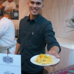 Chef Alvin Cailan's Pancit with egg noodles, calamansi butter, cured egg yolk and scallions