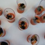 Gazpacho Andaluz with Basil, Cucumber and Black truffle from Chef Sean O'Toole of TORC in Napa