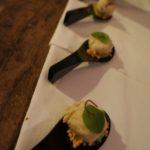Snow crab sushi-kani miso, avocado mousse, nori and arare