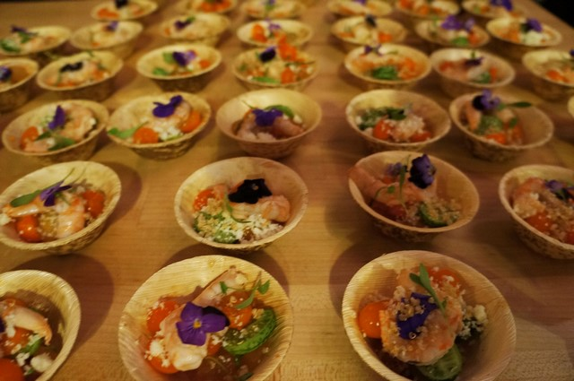 Marcel Vigneron's laughing bird ceviche for Wolf (All photos by Elise Thompson for The LA Beat)