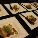 Belcampo Meat Co.'s Chef Brett Halfpap had a lovely organic braised pork belly with pickled grapes, okra, mouse melon, and mustard flowers