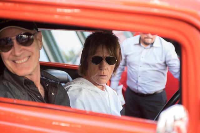 Beck in car