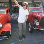 Jeff waving to tourist bus