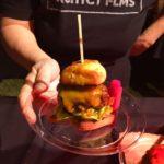The Tuck Hut's Bone Marrow Burger at LA Magazine's Burgers, Bourbon + Beer 2016 (Photo by Billy Bennight)