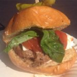Goat cheese and basil burger from Hache LA