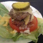 Scratch Bat protein-style burger