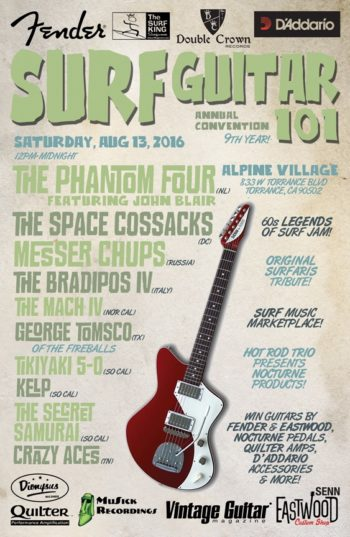 The 9th Annual Surf Guitar 101 Convention Comes to Alpine Village this Saturday