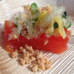 Savore's compressed papaya salad