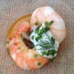 Chef Frank Stitt of Birmingham's Highlands Bar & Grill and Bottega's Bayou La Batre pickled shrimp with Alabama buttermilk tzaziki