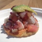 Con'i Seafood's shrimp and octopus tostadita