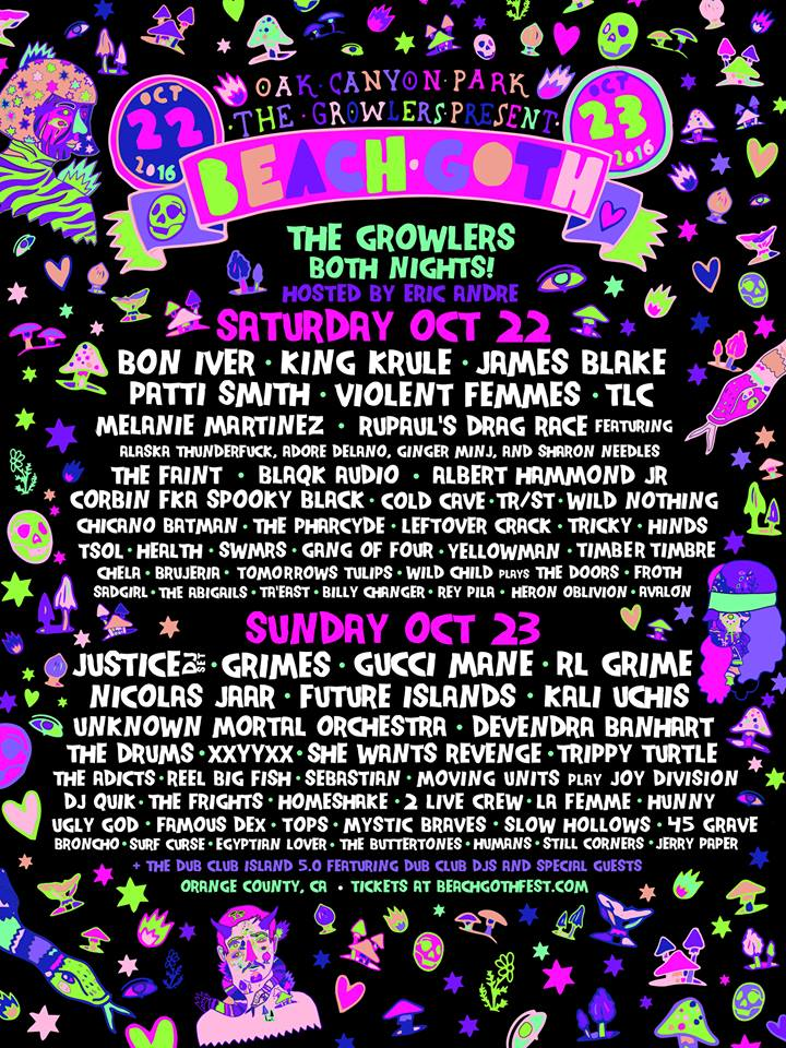 Patti Smith, Violent Femmes, Devendre Banhart and The Adicts Play Beach Goth October 22nd & 23rd