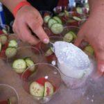 chef-Michael Voltaggio's salad getting its hit of nitrogen frozen yogurt