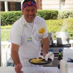 Chef Steve Samson of Sotto plating tortellini