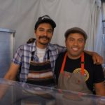 Chef Rocardo Zarante helping out