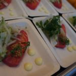 The Blvd. created a gorgeous beet and ginger-cured salmon loin on a fennel and apple slaw.
