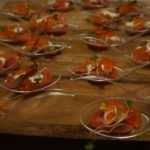 . The Ivory's smoked candy striped beets with horseradish and creme fraiche was topped with salmon roe