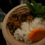 Dry curry and Chicken Larb from Jitlada