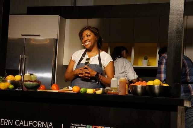 Chef Nyesha Arrington (photos by Elise Thompson for The LA Beat)