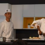 Chef Katsuya Uechi during his cooking demo