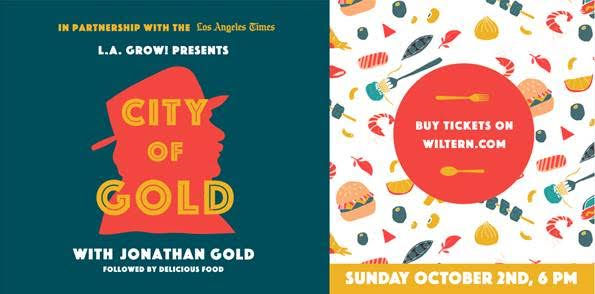 City of Gold Screening and Q&A with Jonathan Gold at The Wiltern, Sunday