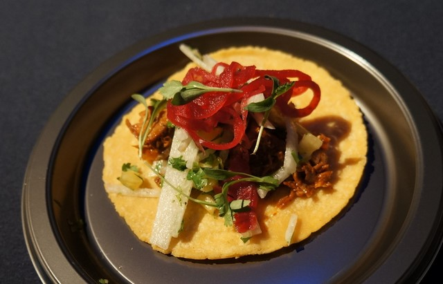 Chefs Susan Feniger's Yucatan Pork Taco at Taste of the NFL (All photos by Elise Thompson for The LA Beat)