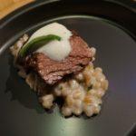 Braised Beef Shortrib ,farro, horseradish espuma from  Travis Strickland of Baltaire
