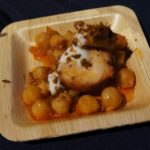 Bruce Kalman of Union's team did a familiar and favorite take on octopus with chick pea conserva, lemon yoghurt an dukkah