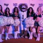 Rampage and the Rams cheerleaders