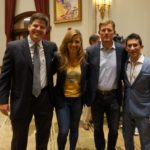 Les Snead, General Manager of the Rams, and his wife Kara Henderson Snead of NFL Network and guests