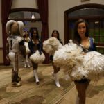 Rampage and the Rams cheerleaders make an entrance