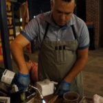Anepalco working on the baby elotes
