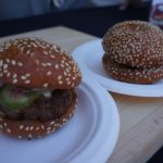 Lamb burger from Playa Provisions' chefs Brooke Williamson and Nick Roberts.