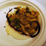La Tostadería's shrimp cev tacos in a jicama wrap.