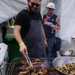 Grilling octopus at Felix's