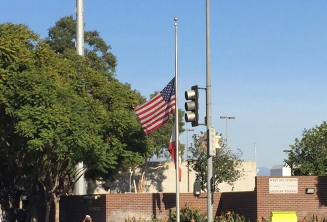 Photo by Kristen Addex Flag at half mast