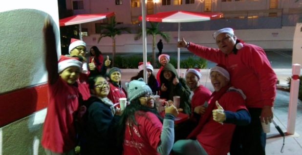 Celebrating a successful parade with the team at In-N-Out.