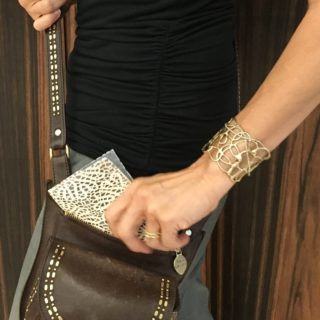 Wanda Wen defines modern luxury with her Soolip brand-- and this metal lace cuff, designed exclusively for Soolip