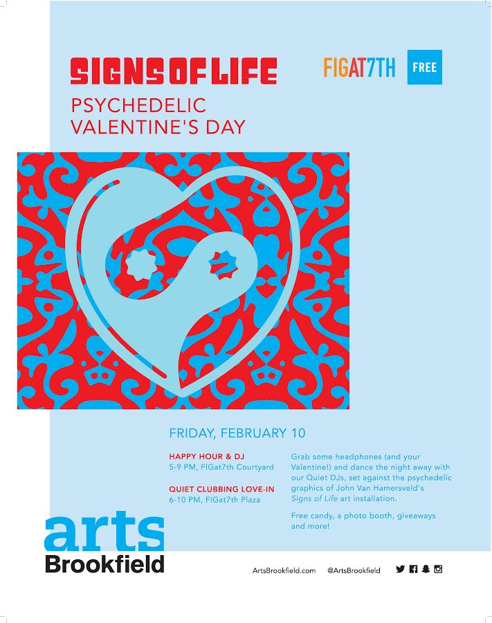 Valentine's Day Psychedelic Love In to celebrate Signs of Life Exhibit