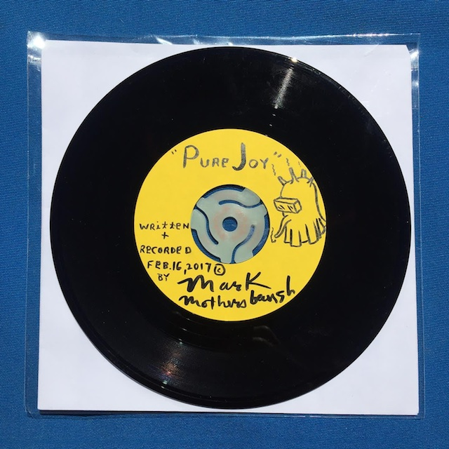 "La La Land's Group Art Show Opening for Charity featuring Mark Mothersbaugh's ""Pure Joy"" 45 Acetate"