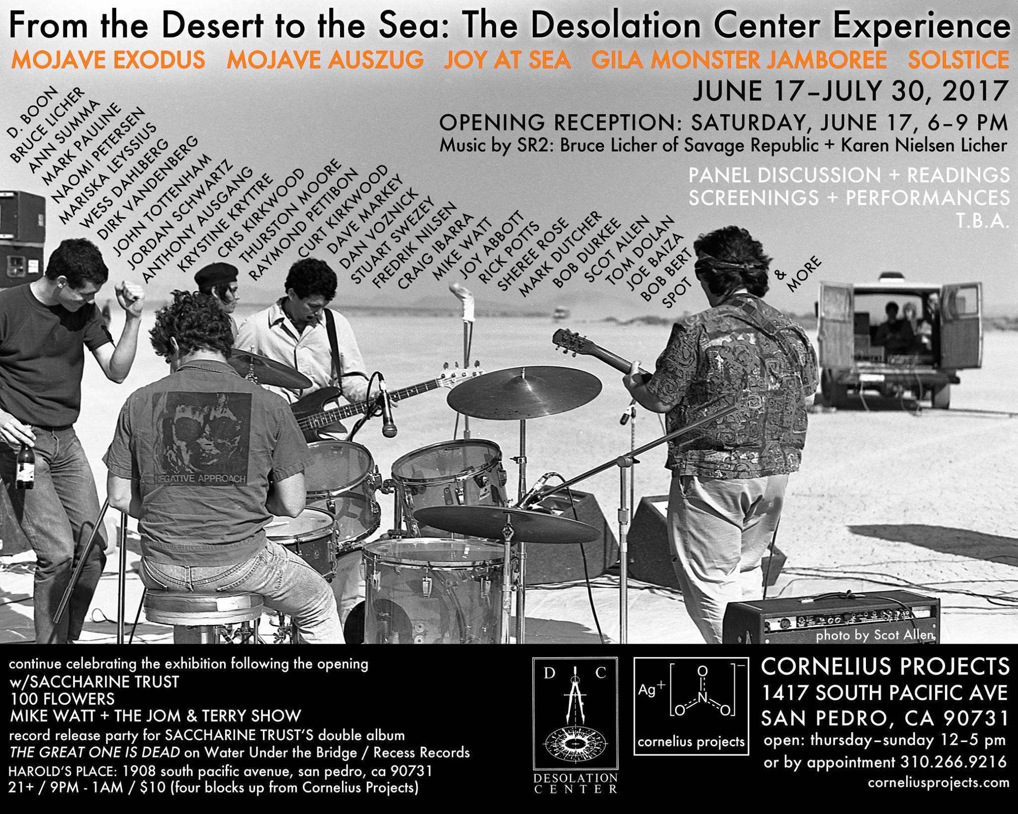 Cornelius Projects Celebrates The Desolation Center Events of the 80s with Screenings, Readings and Live Performances