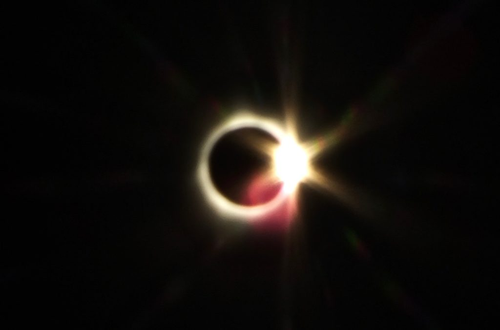 The Diamond ring of the total solar eclipse 2017