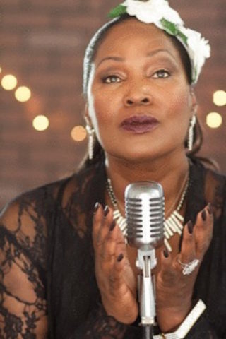 "Sybil Harris in ""Billie Holiday: Front and Center"" at the Barbara Morrison Performing Arts Center"
