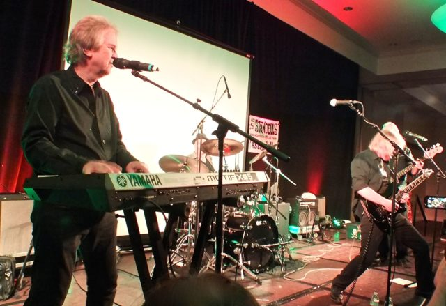 Larry Tamblyn and John Fleck onstage with the Standells