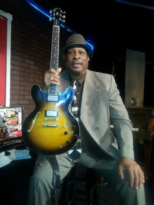 Blues Guitarist Lucky Lloyd. (Photo by Ed Simon)