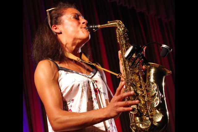Vanessa Collier on sax